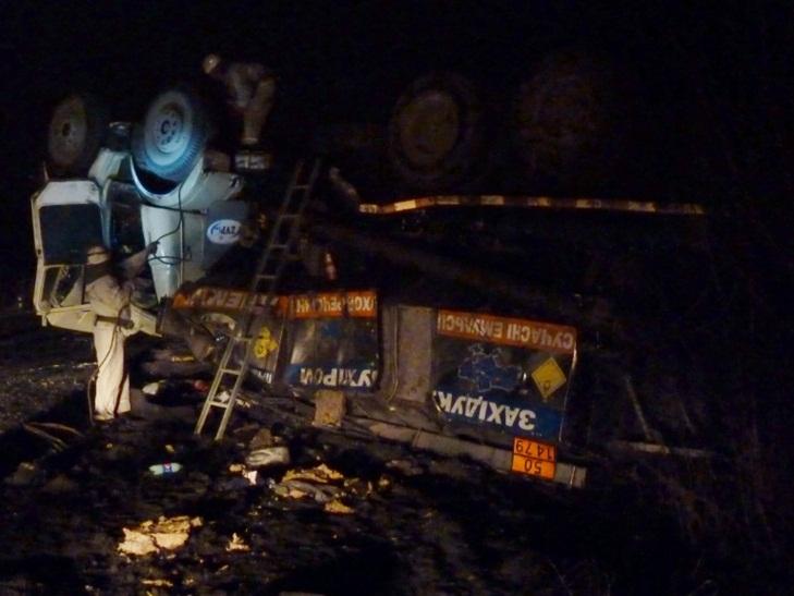 Нa Кропивниччині перекинувся КрAЗ, який перевозив вибухову речовину - фото 1