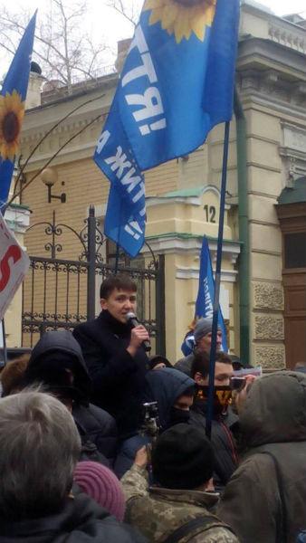 """Савченко разом з Рабіновичем і Мураєвим виступила на мітингу """"За життя"""" - фото 1"""
