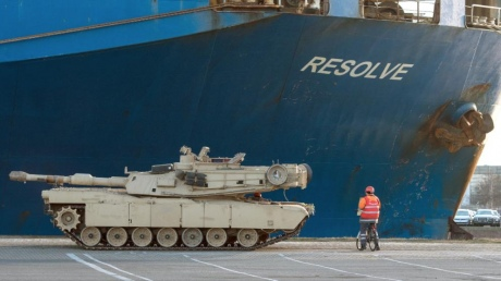 США перебросили танки для размещения вВосточной Европе