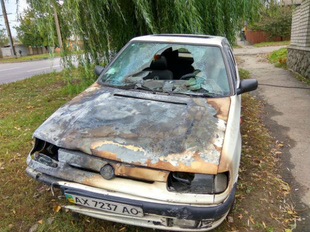 На Салтівці згоріла іномарка - фото 2