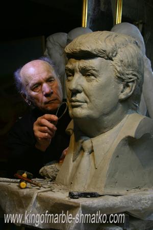 Скандальний скульптур з Луганська зробив мармурового Трампа (ФОТО) - фото 1