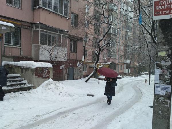 У Дніпрі через дощ посеред січня люди озброїлися парасольками  - фото 1