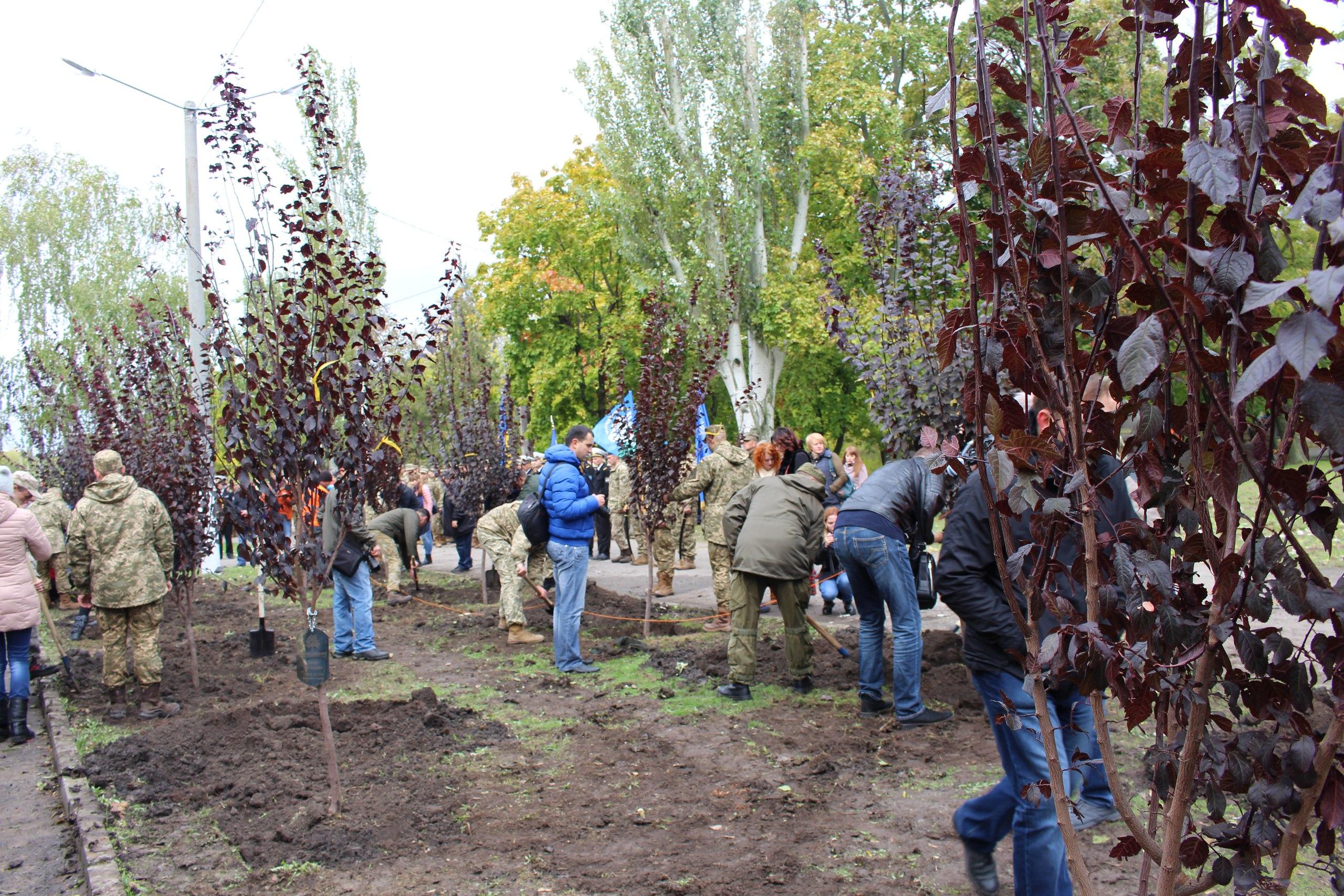 У Миколаєві заклали алею пам'яті загиблих військових