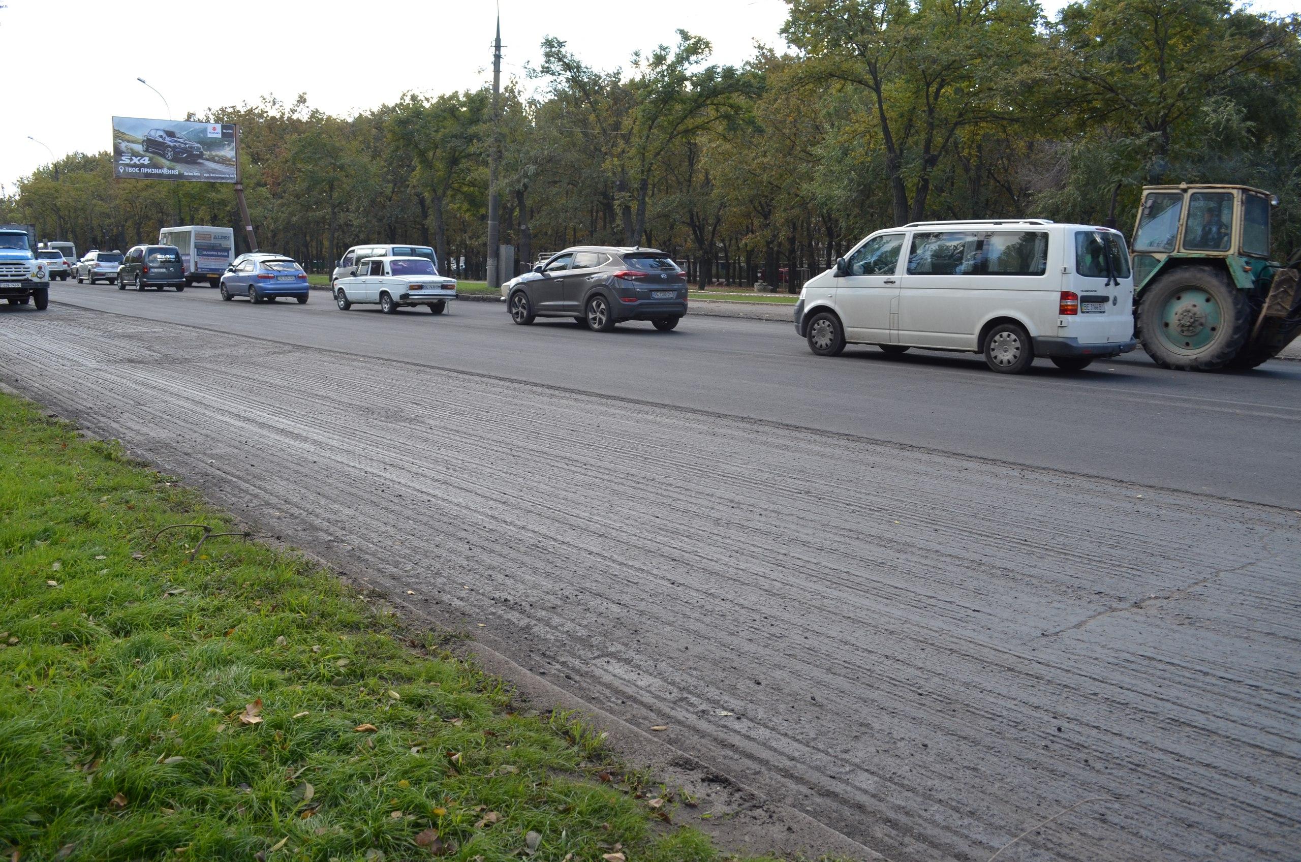У Миколаєві через ремонт дороги утворився затор на Широкобальському мосту
