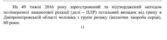 На Дніпропетровщині від грипу помер чоловік - фото 1