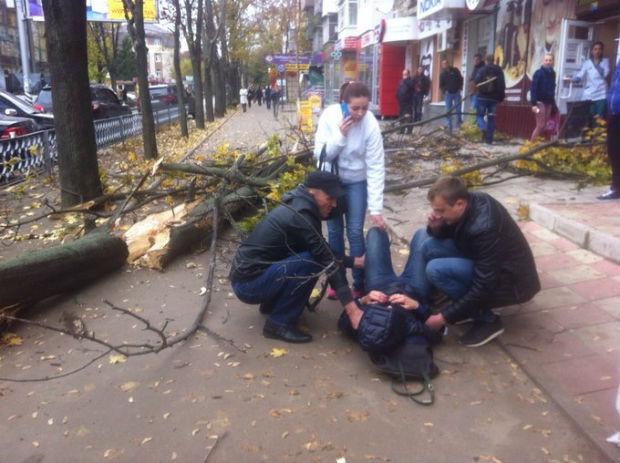 У Харкові на людину впало аварійне дерево - фото 1