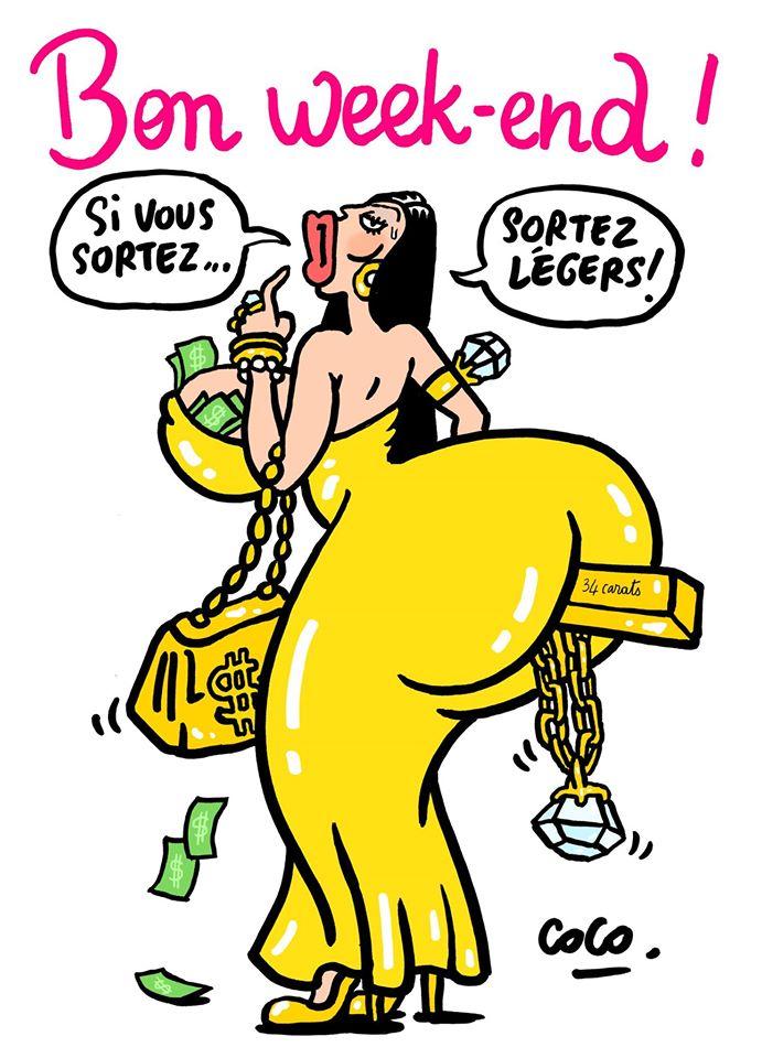 Charlie Hebdo помістили золотий злиток у дупу Кардашіан - фото 1