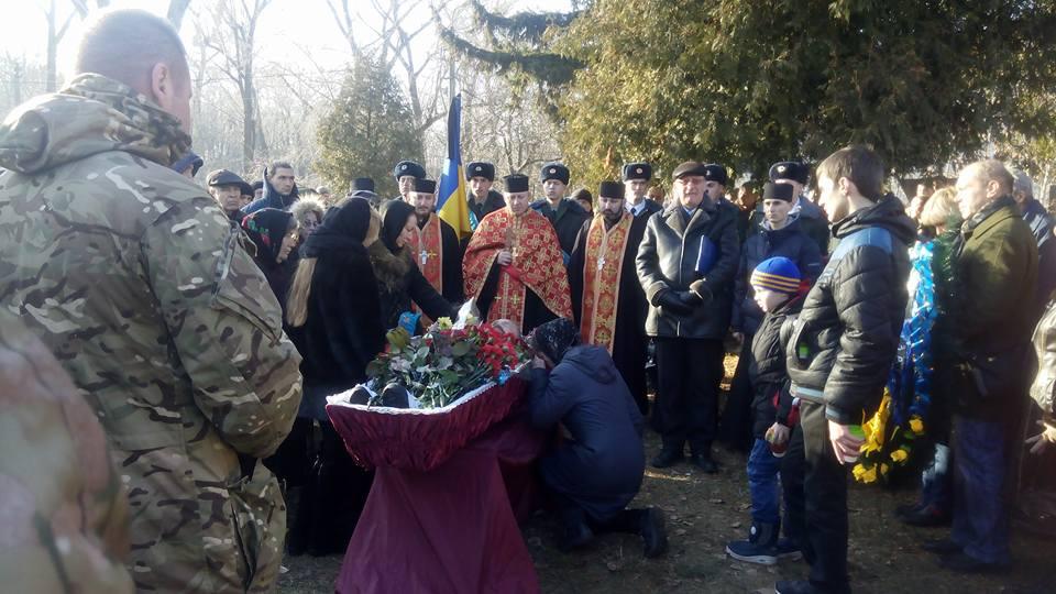 ВКиеве попрощались сгероем АТО бойцом Козаком