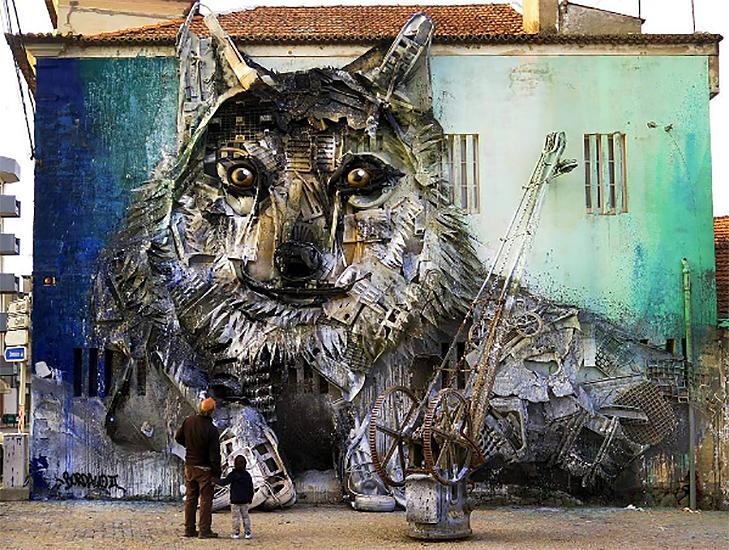 Художник перетворює купи сміття в неймовірні скульптури тварин - фото 4