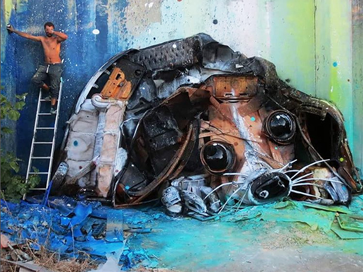Художник перетворює купи сміття в неймовірні скульптури тварин - фото 6