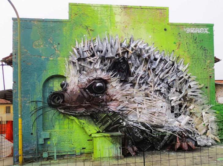 Художник перетворює купи сміття в неймовірні скульптури тварин - фото 3