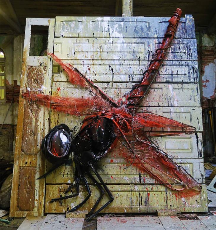 Художник перетворює купи сміття в неймовірні скульптури тварин - фото 8