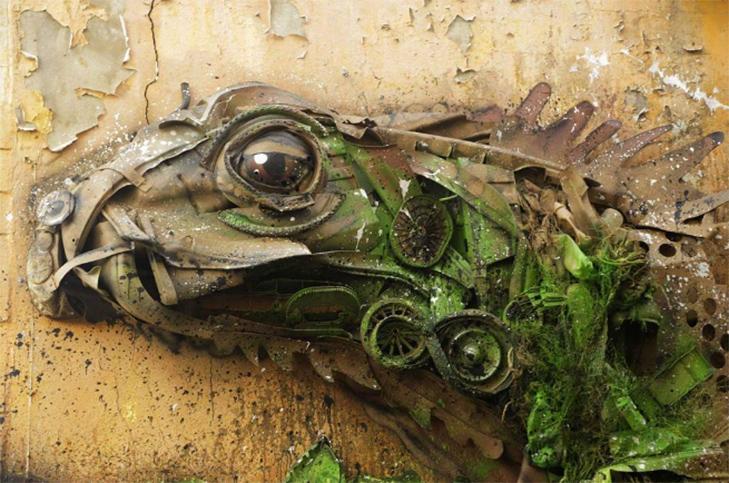 Художник перетворює купи сміття в неймовірні скульптури тварин - фото 14