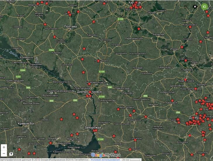 Google показав, де на Дніпропетровщині Леніни ховаються від декомунізації  - фото 1
