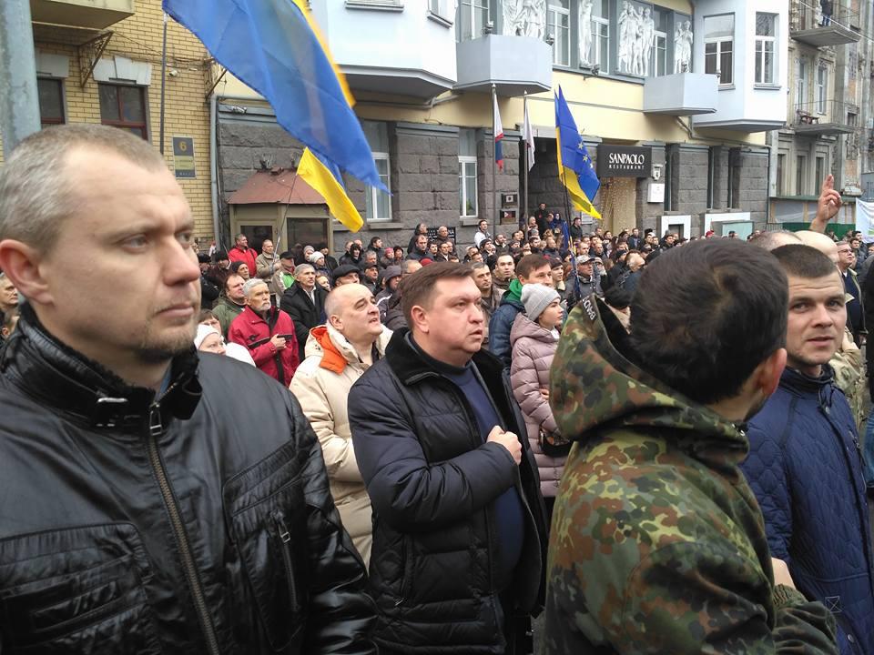 На мітингу Саакашвілі засвітився скандальний депутат-тушка з Луганщини - фото 2