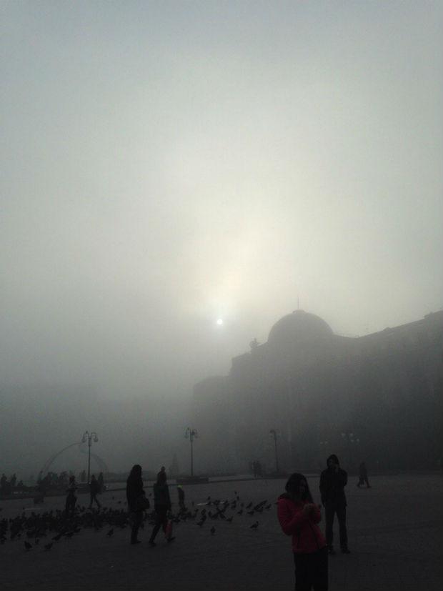 Харків вкрив надзвичайно густий туман - фото 1