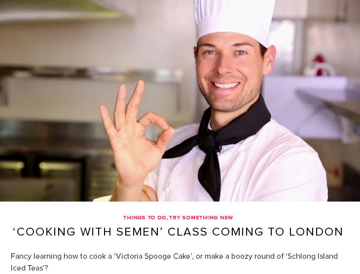 Британців навчать готувати тістечка із власної сперми - фото 1