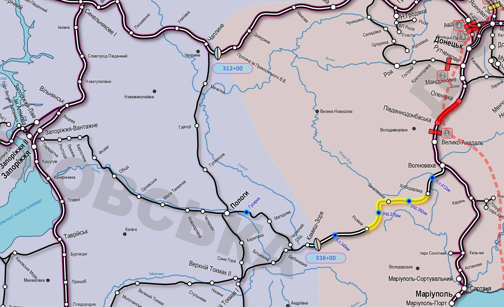 «Укрзализныця» расширила пропускную способность ж/д перегона вМариуполь