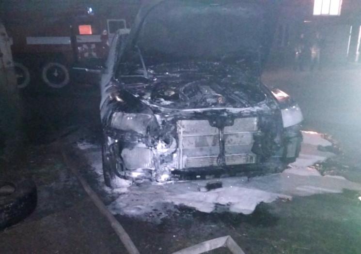 На херсонском курорте сгорел Volkswagen…