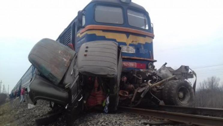 У результаті зіткнення поїзда і вантажів…