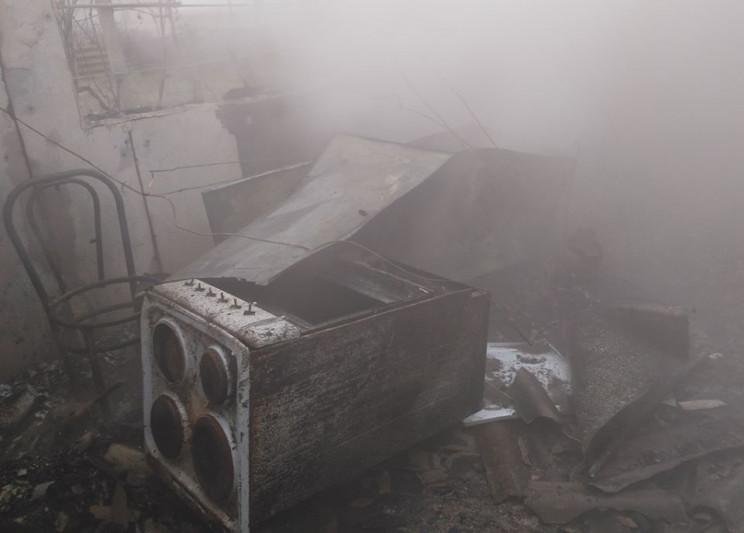 На Херсонщине горел частный дом…