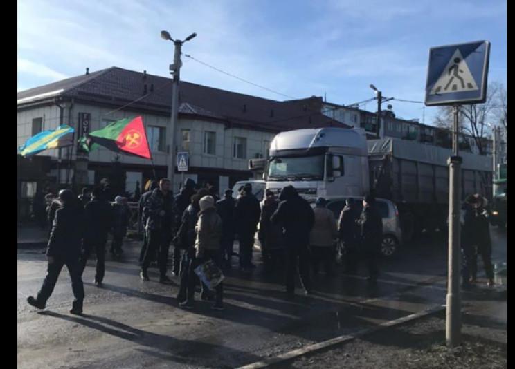 У Мирнограді шахтарі заблокували центр м…