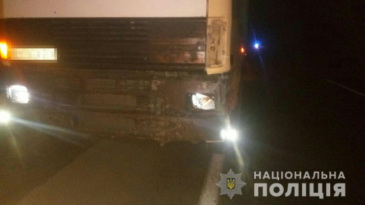 На трассе Одесса – Киев грузовик с Хмель…