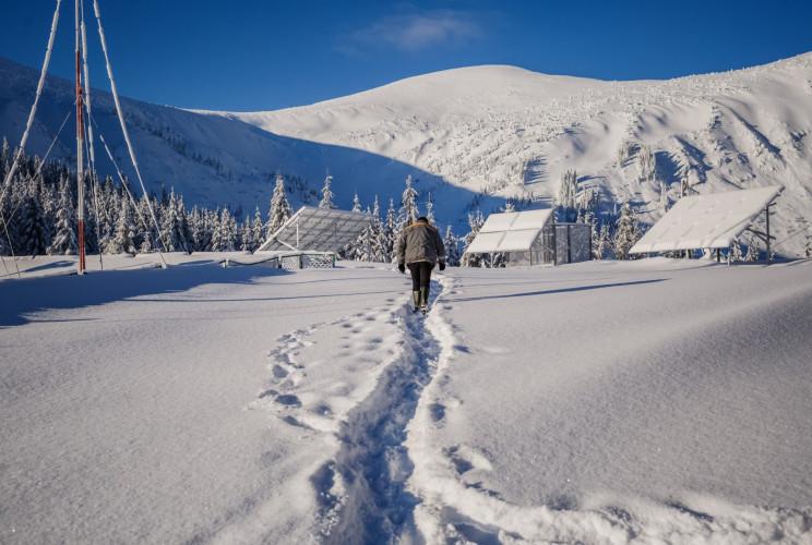 В Карпатах выпало 1,2 метра снега…