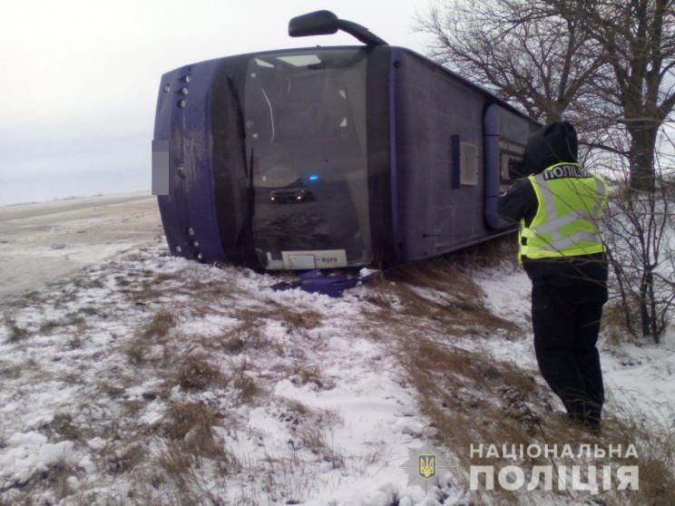 В Одесской области перевернулся автобус…