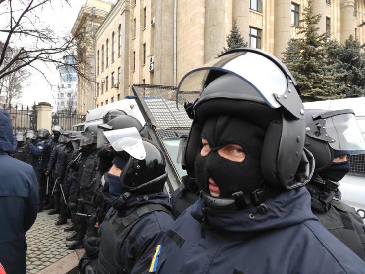 Разгон пикета ОПЗЖ в Харькове: Полиция с…
