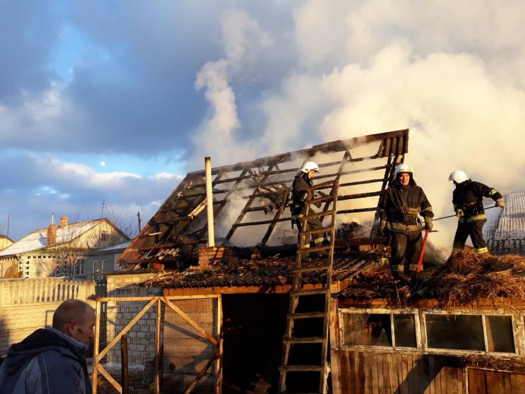 В Острозі загасили пожежу (ФОТО)…