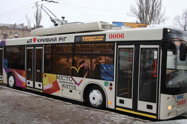 В Кривом Роге запустили новый троллейбус…