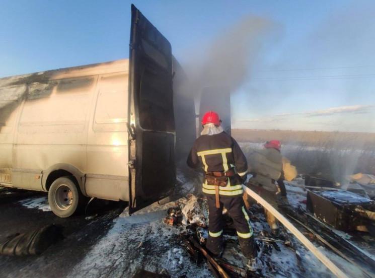 На автодорозі Одеса – Рені загорівся мік…