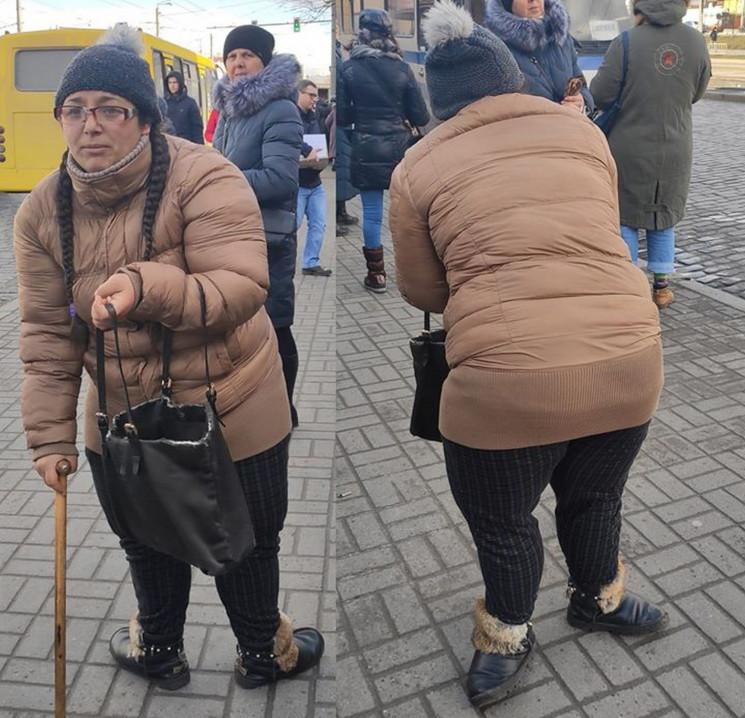 Як у Львові дівчина виманює гроші у дові…