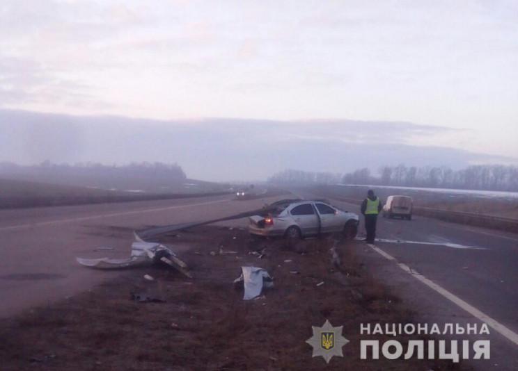Авто нанизало на отбойник: На Харьковщин…