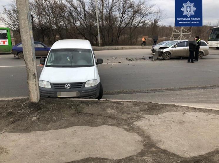 На выезде из Харькова невнимательный вод…
