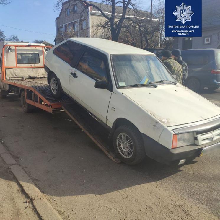 У Кропивницькому патрульні забрали автом…