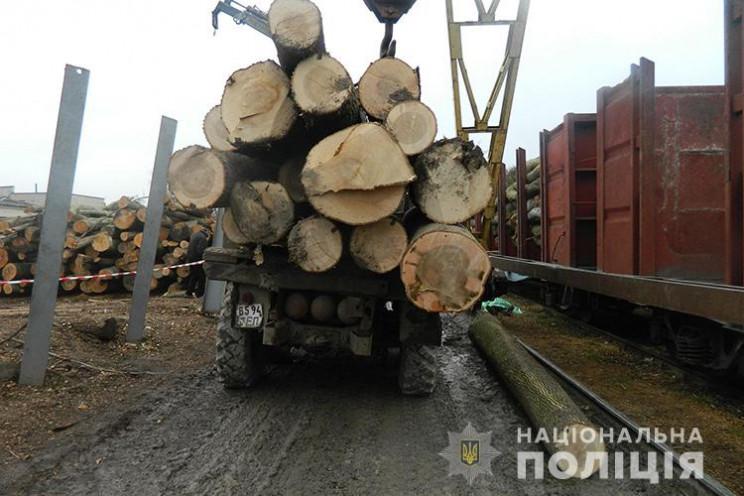 Дерев'яна колода вбила водія на Тернопіл…