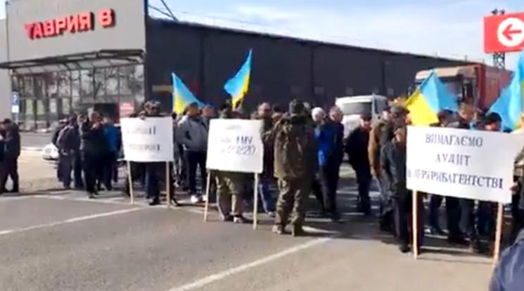Акция протеста в Маяках: Рыбаки из Бесса…