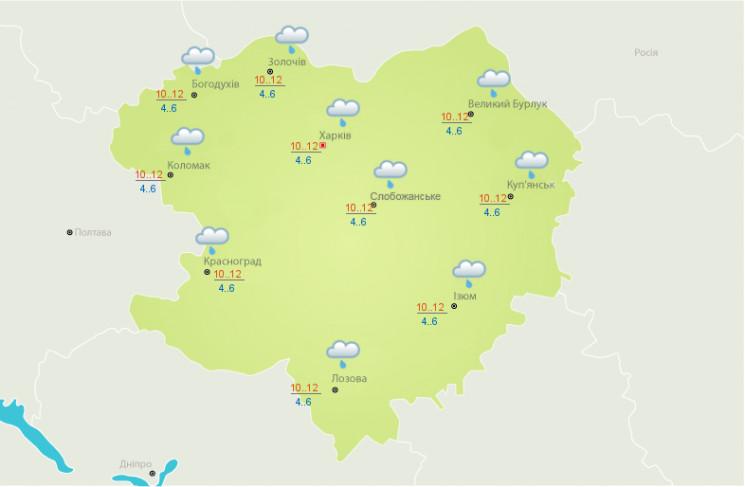 На Харьковщине – дождь и похолодание…