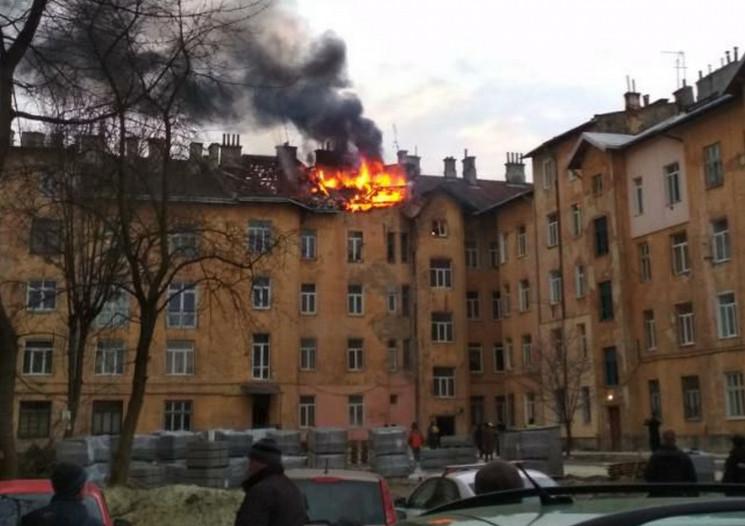 У Львові в будинку почалася пожежа (ФОТО…