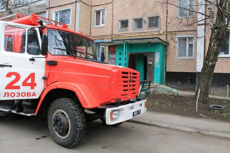 На Харківщині спалахнула пожежа в багато…