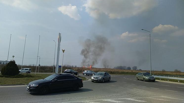 На виїзді зі Львова виникла пожежа (ФОТО…