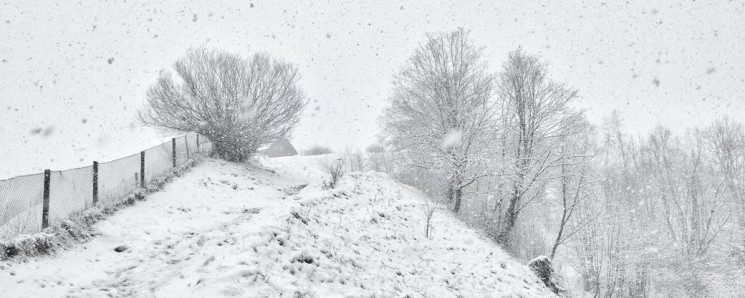 Як закарпатську Рахівщину засипало сніго…