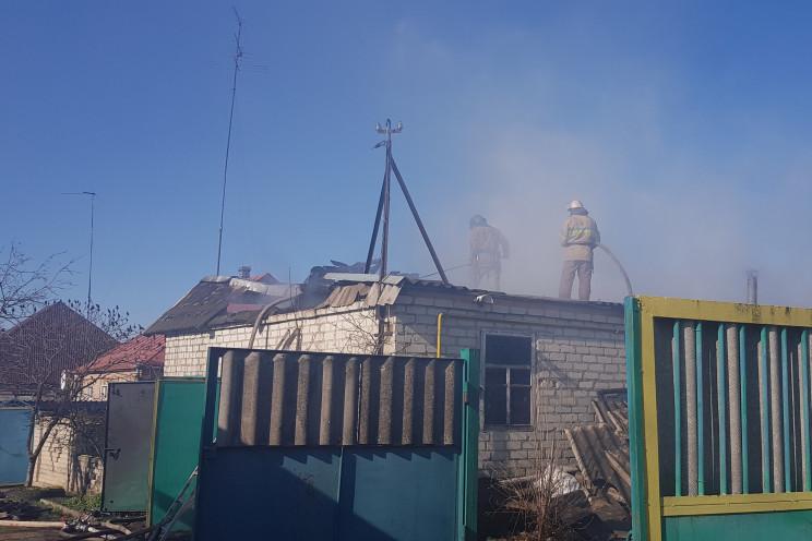 Под Харьковом сгорела частная усадьба…