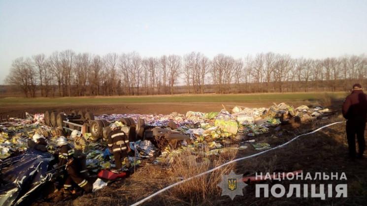Водій фури, яка перекинулася на Харківщи…