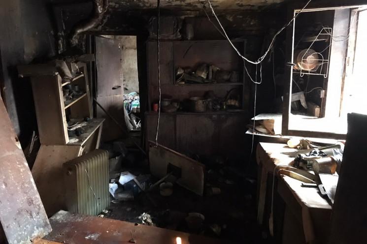 В Харькове огонь уничтожил здание…
