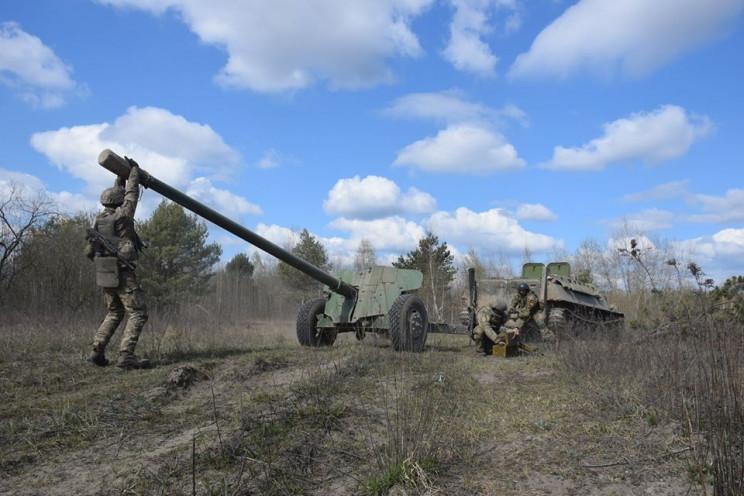 Как тернопольские артиллеристы в полях в…