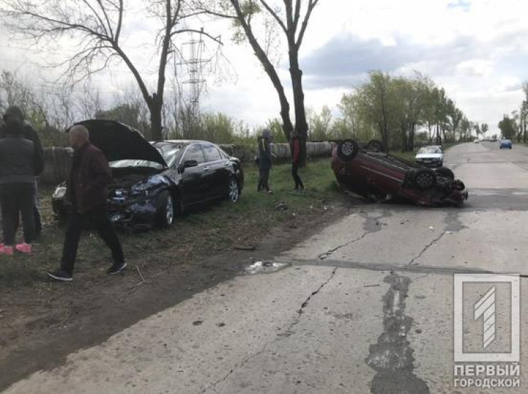 ДТП с четырьмя автомобилями в Кривом Рог…