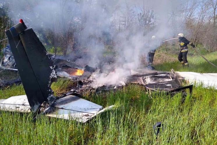 З'явилося відео, як під Дніпром розбився…